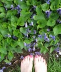 Nancie's toes in the violets